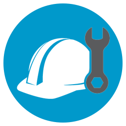 construction hat and wrench
